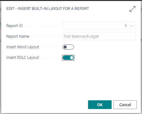 Copying a Business Central Report built-in layout.